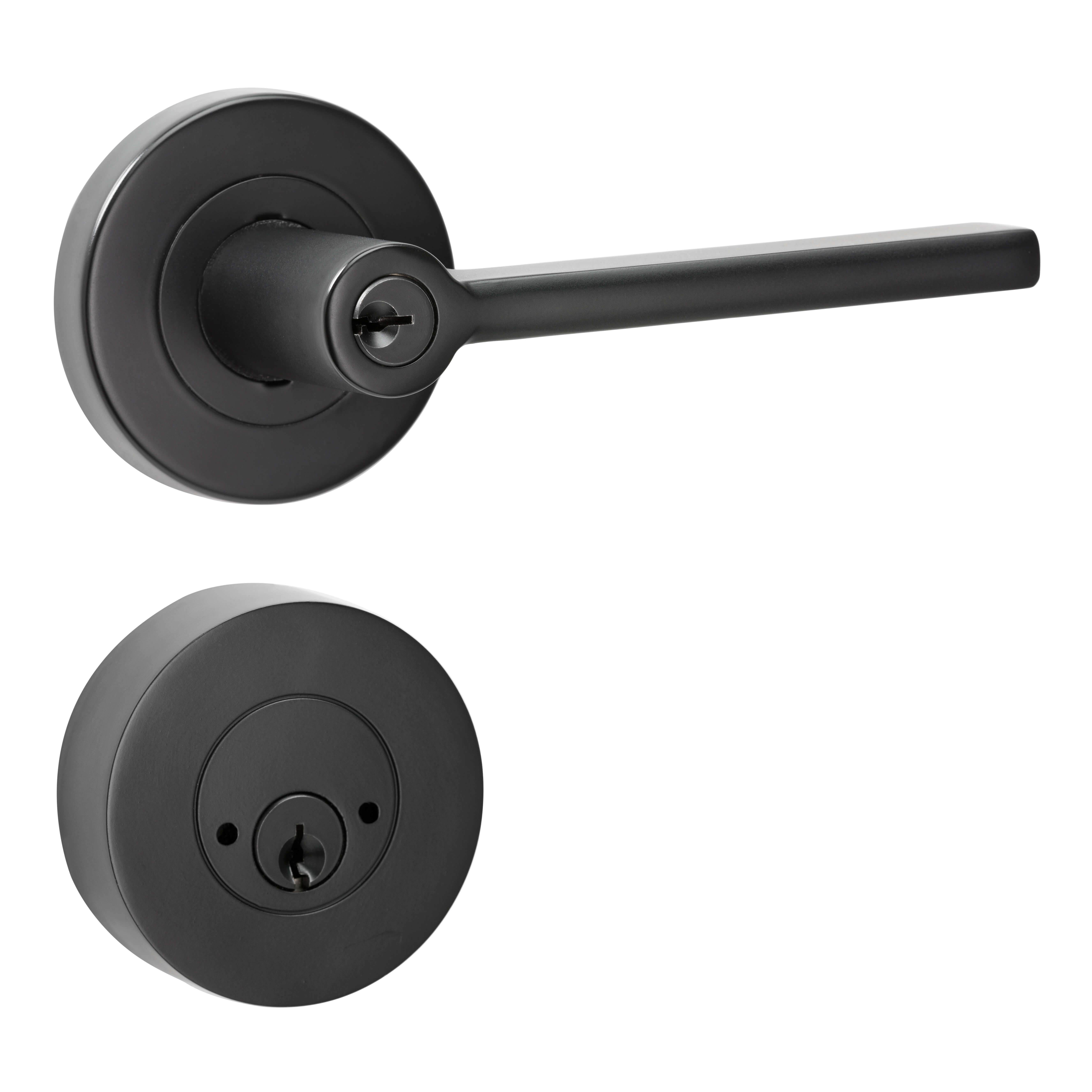 Black Orba Security Set Lemaar door handle v2